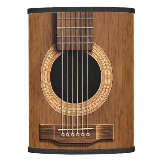 Warm wood acoustic guitar lamp shade zazzle warm wood acoustic guitar lamp shade aloadofball Images