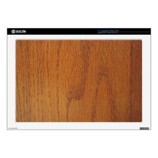 """Warm Wood Grain Texture Decal For 17"""" Laptop"""