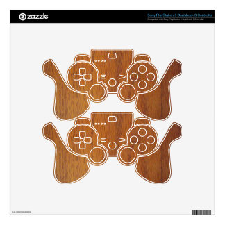Warm Wood Grain Texture Decal For PS3 Controller