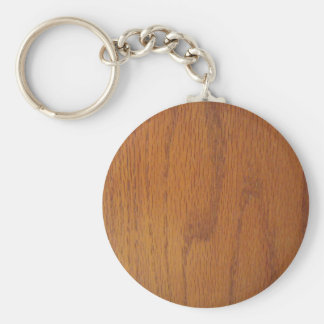 Warm Wood Grain Texture Keychain