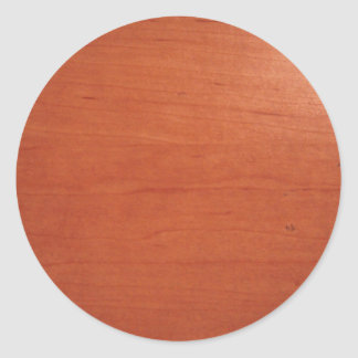 Warm Woodgrain Texture v.2 Classic Round Sticker