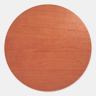 Warm Woodgrain Texture v.2 Classic Round Sticker
