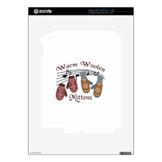 Warm Woolen Mittens Decals For The iPad 2
