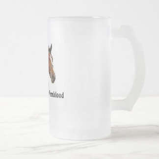 Warmblood horse frosted glass beer mug