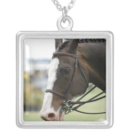 Warmblood Horse Photo Sterling Silver Necklace