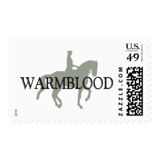 WARMBLOOD with Dressage Horse & Rider Postage