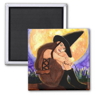 Warmed By The Moon 2 Inch Square Magnet