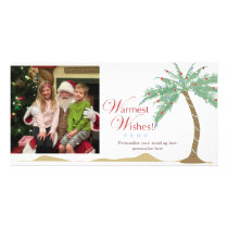 Warmest Holiday Wishes, Christmas Beach Palm Tree Card