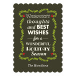 Warmest thoughts & best wishes holiday cards