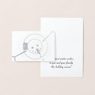 Warmest Winter Wishes Snowman Greeting Card