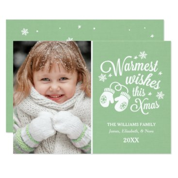 Christmas Themed Warmest Wishes | Christmas Photo Card