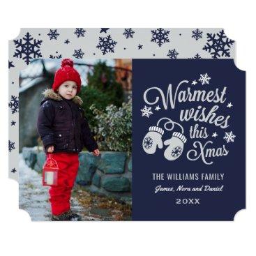 Christmas Themed Warmest Wishes | Christmas Photo Card