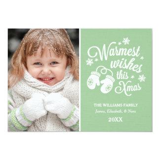 "Warmest Wishes | Christmas Photo Card 5"" X 7"" Invitation Card"