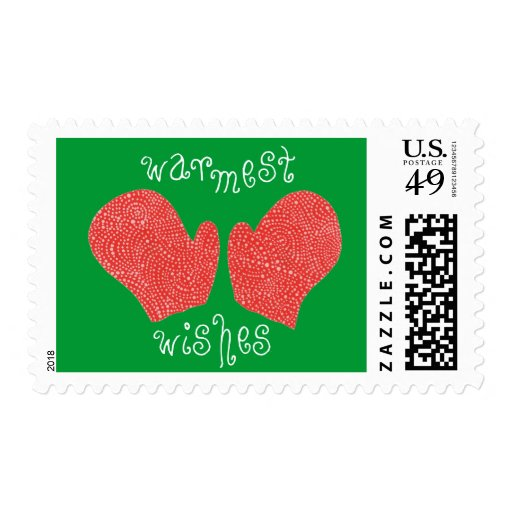 """""""Warmest Wishes"""" Christmas Stamp"""