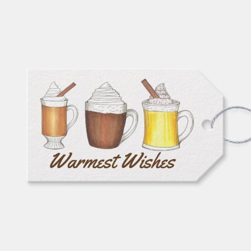 Warmest Wishes Cocoa Egg Nog Gift Tag