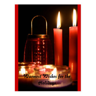 Warmest Wishes for the Holidays Postcard