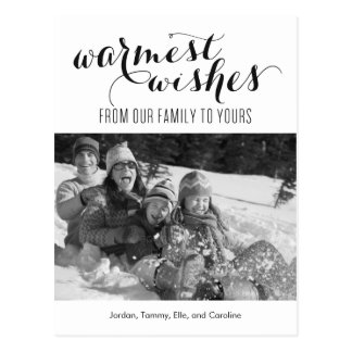 Warmest Wishes Holiday Photo Card Postcard