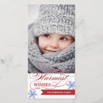 Warmest Wishes Holiday Photocard
