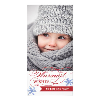Warmest Wishes Holiday Photocard Card