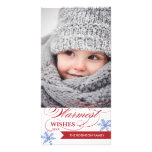 Warmest Wishes Holiday Photocard Photo Card