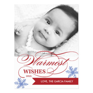 Warmest Wishes Holiday Postcard