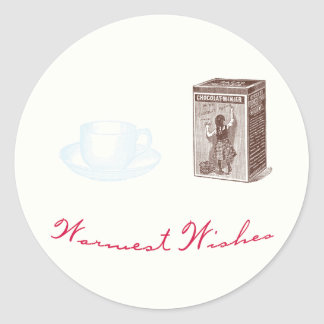 Warmest Wishes Hot Cocoa Holiday Stickers
