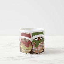 Warmest Wishes Owl Family Espresso Mug