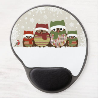 Warmest Wishes Owl Family Gel Mouse Mats