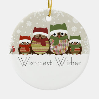 Warmest Wishes Owl Family Ornament