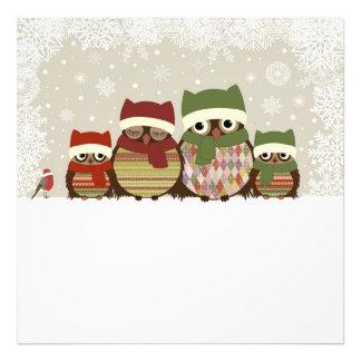 Warmest Wishes Owl Family Photo