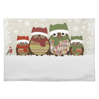 Warmest Wishes Owl Family Placemat
