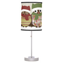 Warmest Wishes Owl Family Table Lamp