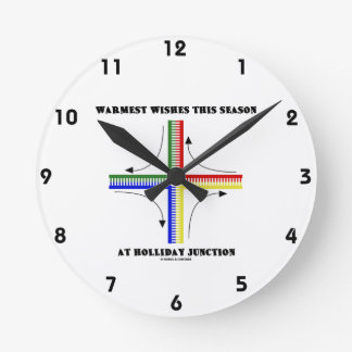 Warmest Wishes This Season At Holliday Junction Round Wallclock