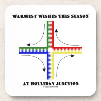 Warmest Wishes This Season At Holliday Junction Drink Coaster