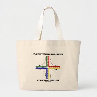 Warmest Wishes This Season At Holliday Junction Large Tote Bag