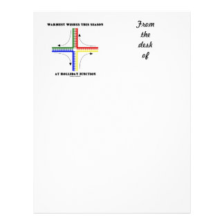 Warmest Wishes This Season At Holliday Junction Letterhead Template
