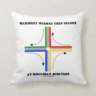 Warmest Wishes This Season At Holliday Junction Pillow