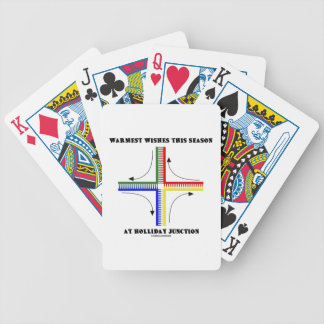Warmest Wishes This Season At Holliday Junction Bicycle Card Deck