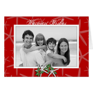 Warmest Wishes Tropical Photo Christmas Cards