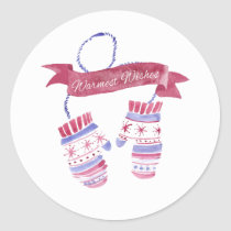 Warmest Wishes Watercolor Mittens stickers