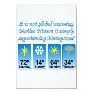 """Warming-Menopause.png no global Invitación 5"""" X 7"""""""