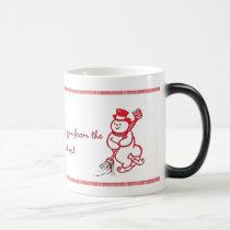 warming snowmen magic mug