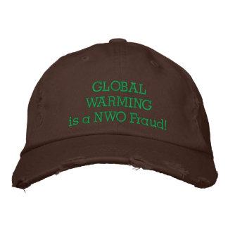 ¡WARMINGis GLOBAL un fraude del NOW! Gorra De Béisbol Bordada