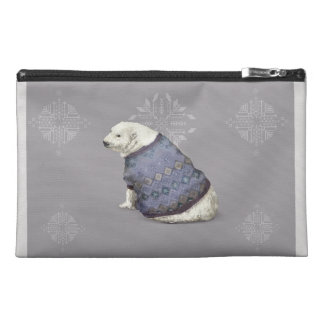 'Warmly Clothed Bear' Travel Accessory Bag