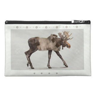 'Warmly Clothed Moose' Travel Accessories Bags