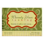 Warmly Yours [green] Chubby Business Cards