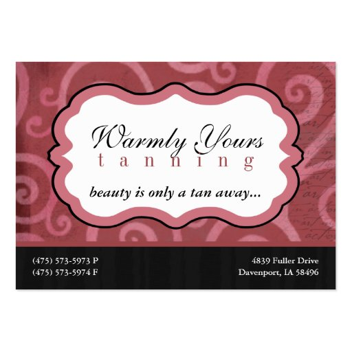 Warmly Yours [pink] Chubby Business Cards