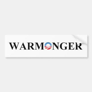 WARMONGER BUMPER STICKER