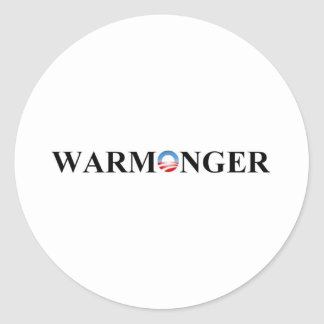 WARMONGER CLASSIC ROUND STICKER