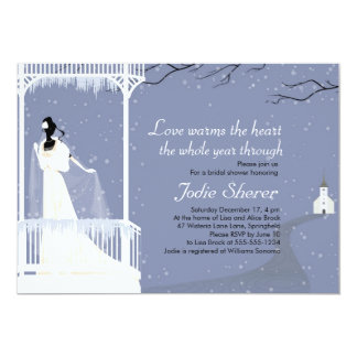 Warms the Heart - Winter Bridal Shower Invitation